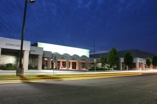C.H. Yoe High School at night